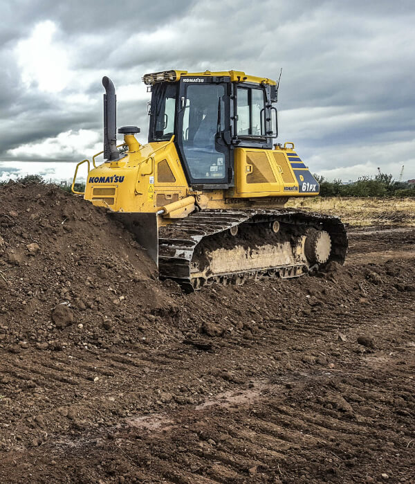 bulldozers fitted with a Topcon 3d gps system