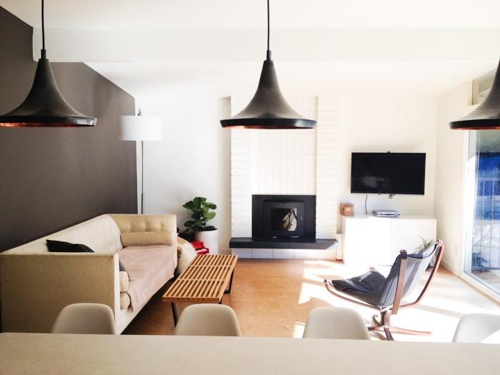 Modern Living Room Design-Monochrome Palette